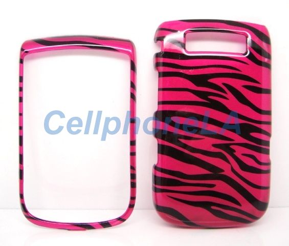 Blackberry Torch 9800 Hot Pink Zebra Hard Case Cover