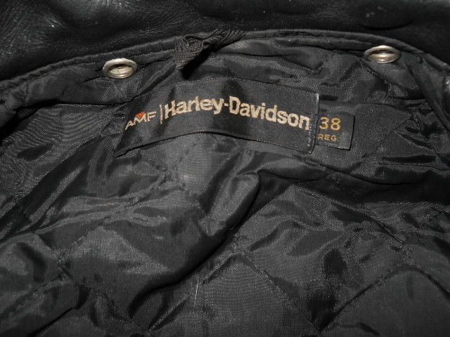 vintage HARLEY DAVIDSON BLACK LEATHER MOTORCYCLE JACKET WOMENS SIZE