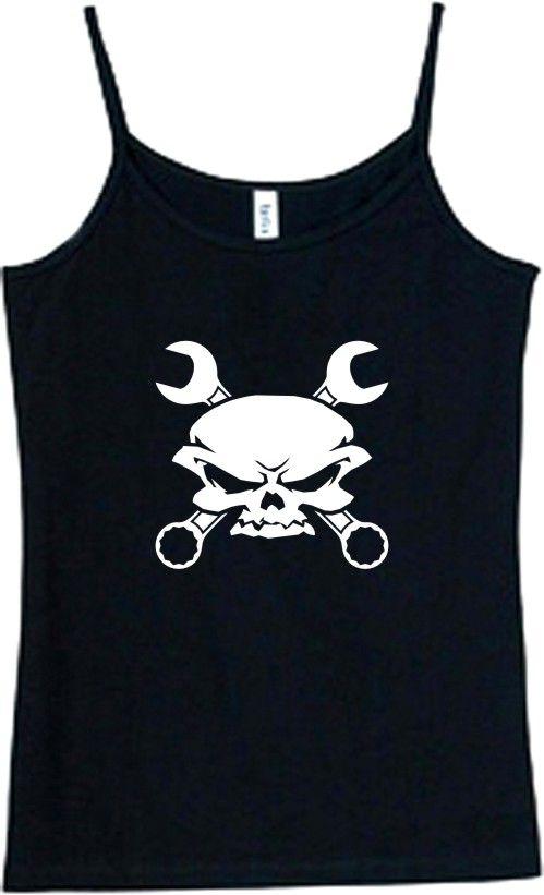 Shirt/Tank   skull & cross wrenches   gear head auto
