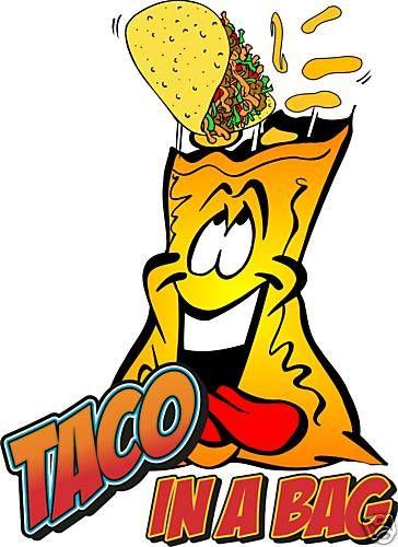 Taco in a bag Concession Cart Vendor Food Decal 24