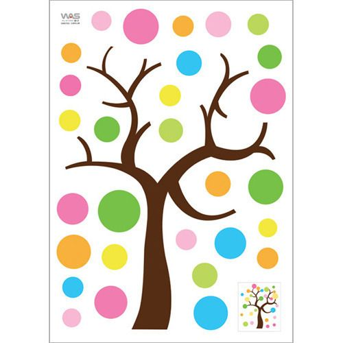 NEW nice quality Polka Dot lucky Tree Baby kids deco mural Wall Paper