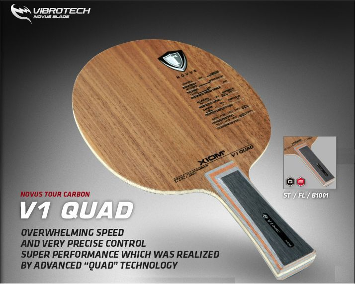 V1 Quad Novus Tour Carbon OFF+ Table Tennis Ping Pong Racket