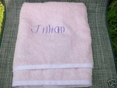Personalized Pink Beach Bath Girls Boys Kids Towel New