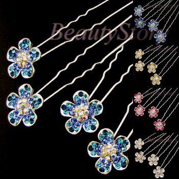 ADDL Item  Austrian rhinestone crystal flower hair pin